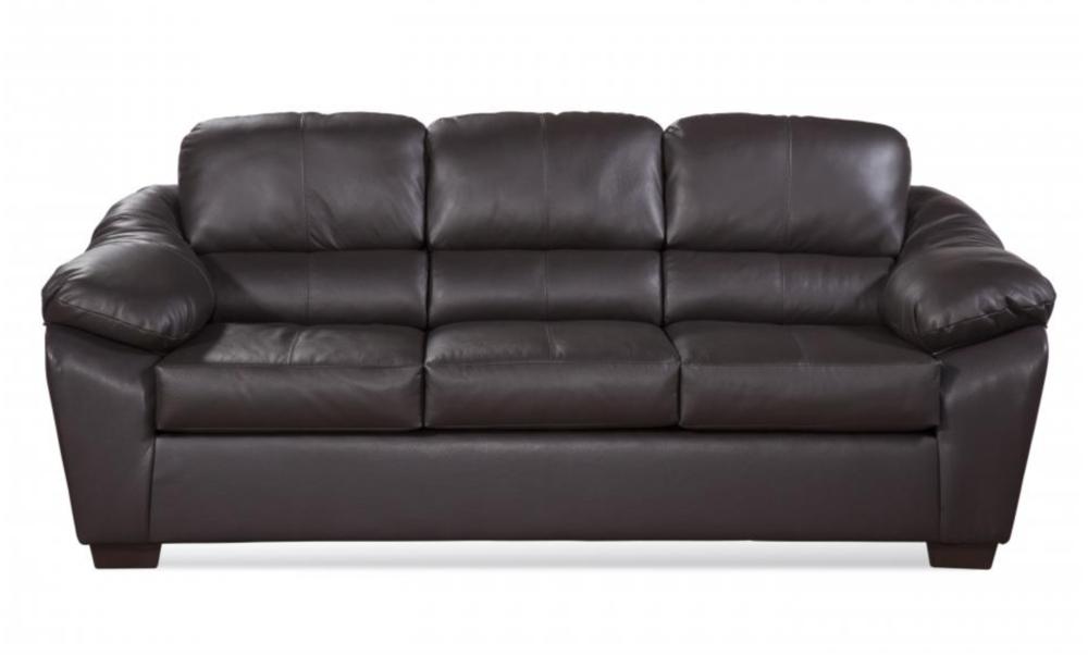 Harvey Chocolate Top Grain Leather Sofa