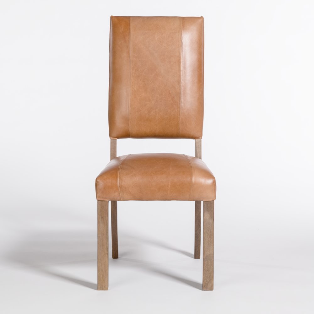 Bradford Caramel Leather Dining Chair 1.png