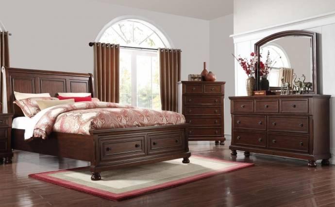 Preston Cherry Storage Bedroom Set
