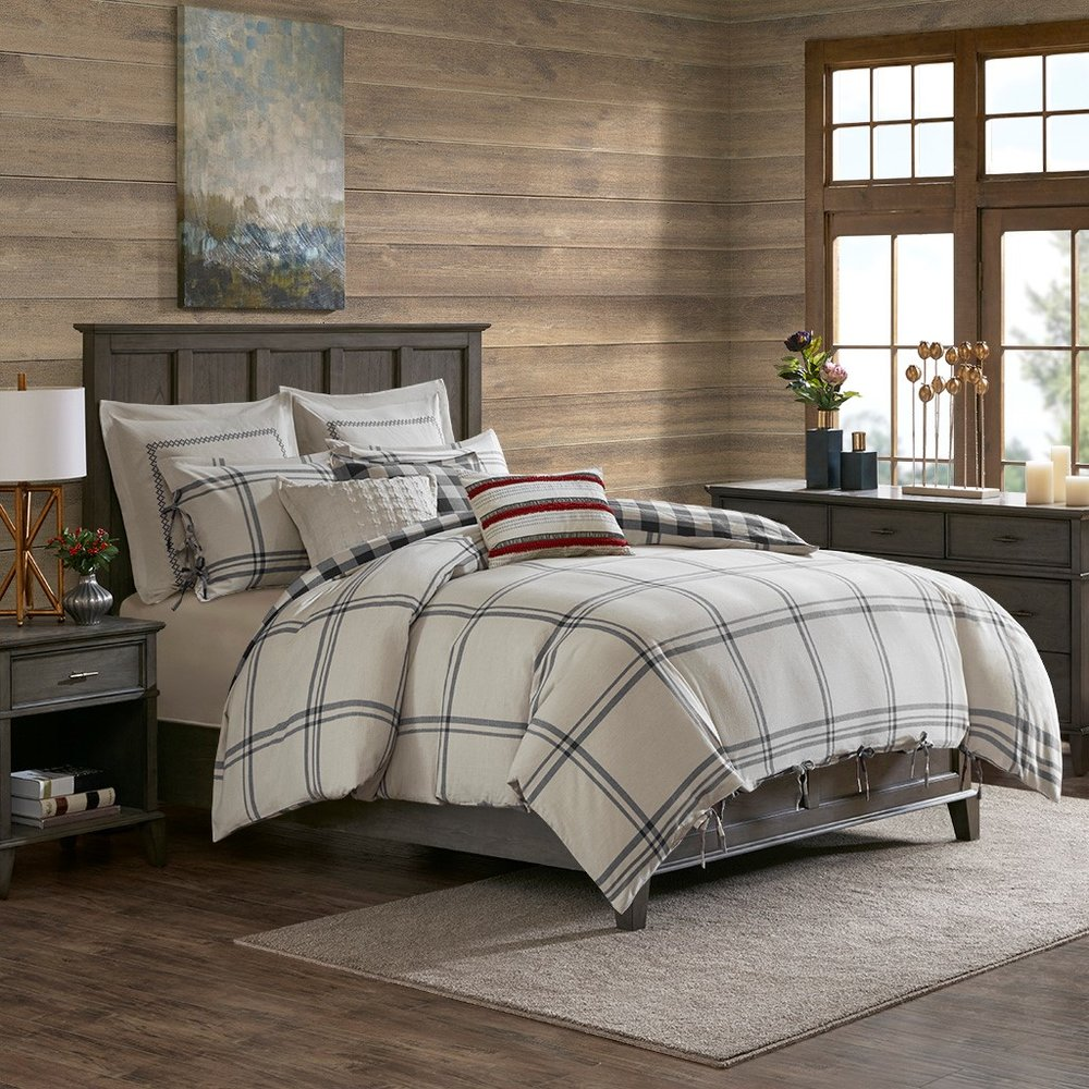 Grey Willow Oak Reversible Cotton Comforter Set Miller S Home Furnishings