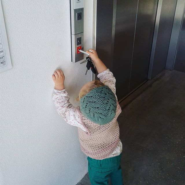 "Nyah ""unlocking"" the #lift at the Lismore #artgallery . #smart #kids #key #gallery #toddler #play #fun #bonnet #love #winter #cute #funny #instacute #toocute #important #work"