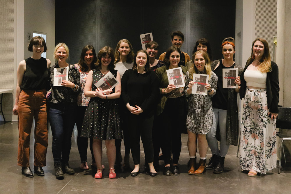The 2018 Antithesis team celebrating the journal's launch.