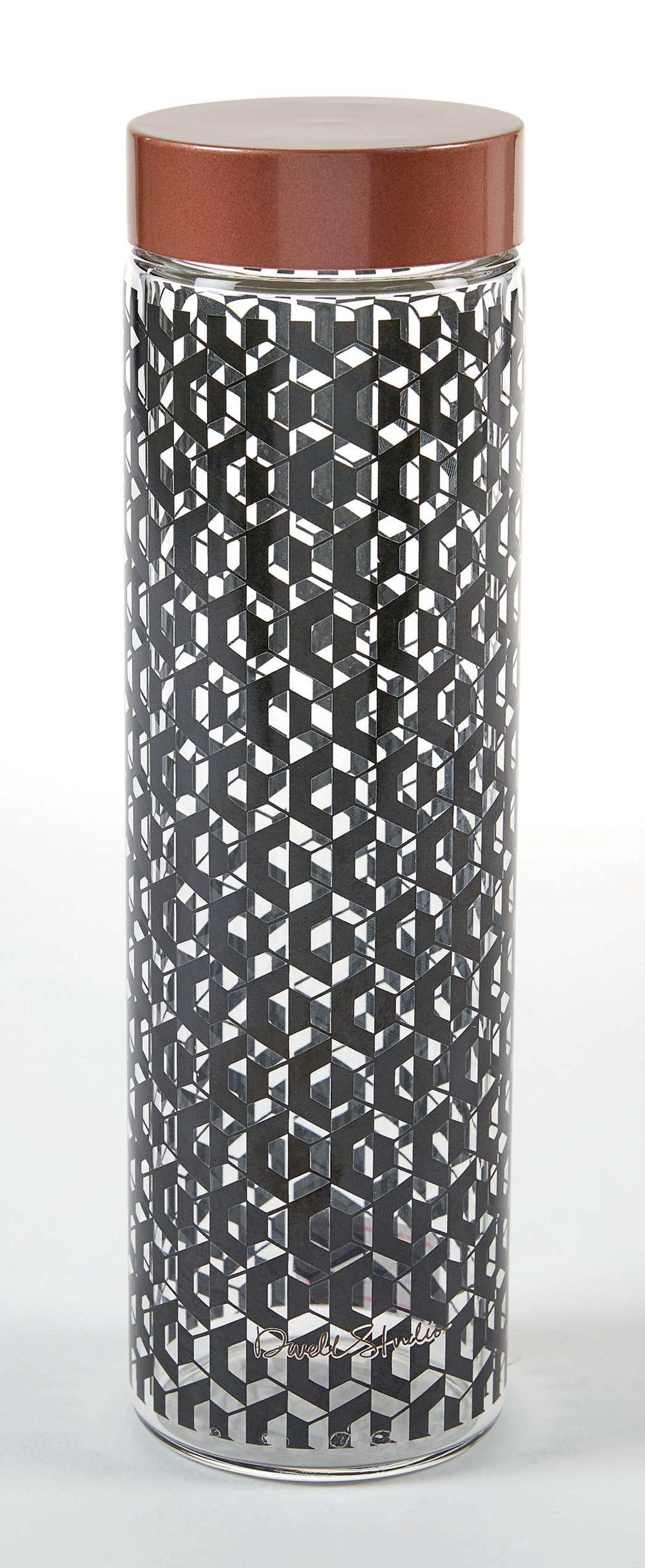 DS fashion pattern glass water bottle.jpg