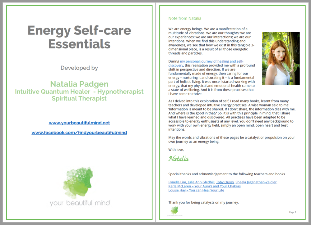 Energy Self-care Essentials - A wise woman said to me: 'Information is meant to be shared. If I don't share, the information dies with me. And where is the good in that?'So, it is with this principle in mind, that I share what I have learned and discovered.