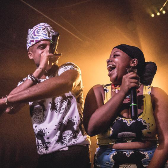 RIDERS AGAINST THE STORM - Hip hop artists Chaka and Qi Dada (husband and wife) represent a significant first in the
