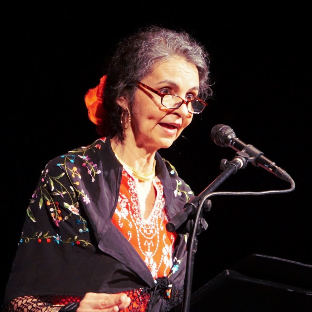 AMPARO GARCIA-CROW - Native Texan and acclaimed performer, director, educator, writer, and former Program Manager for Austin's Mexican American Cultural Center.