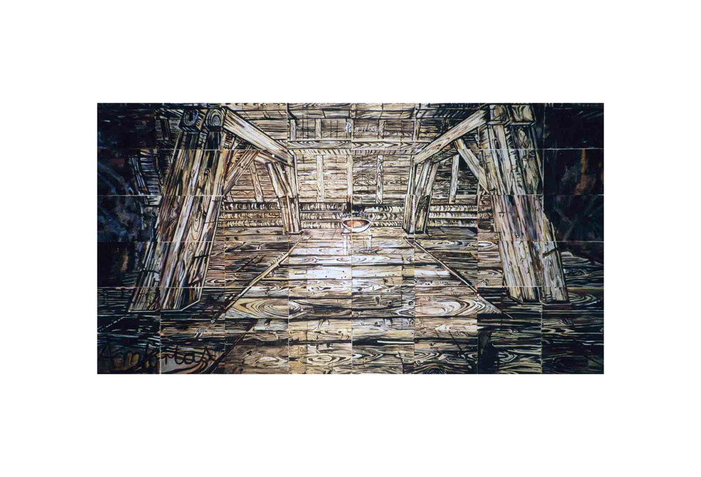Imants Tillers   Untitled (Parsifal) , 1987  gouache, synthetic polymer paint on 48 canvasboards, 14027 - 14074 76.2 x 142 cm Collection of the artist