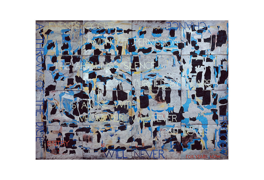 Imants Tillers   Nature Speaks: EL , 2013  acrylic, gouache on 16 canvasboards 101 × 142 cm