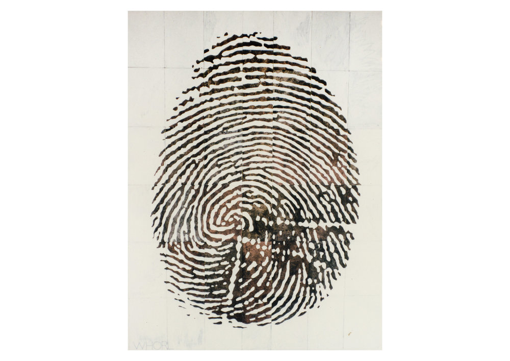Imants Tillers   Whorl , 1991  oilstick, synthetic polymer paint, gouache on 49 canvasboards, nos. 32719 - 32763 228.6 x 172.2 cm
