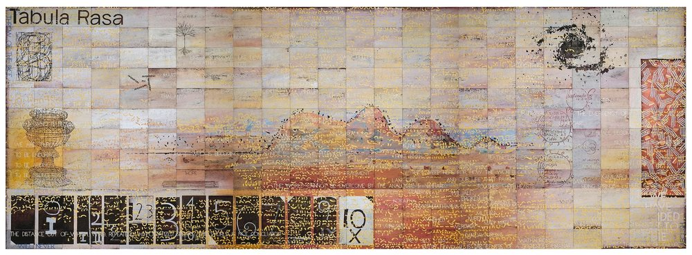 Imants Tillers   Tabula Rasa (For My Father) , 2011  synthetic polymer paint, gouache on 288 canvasboards, nos. 87889 - 88176 304.8 × 853.4cm Collection: Museum of Contemporary Art, Sydney