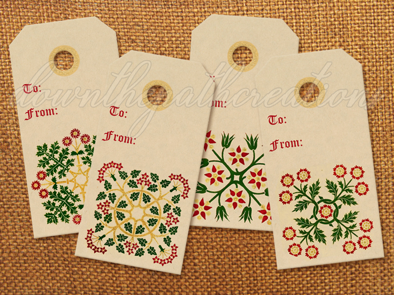 Vintage Style Christmas Tags Printable - Free Download  HERE