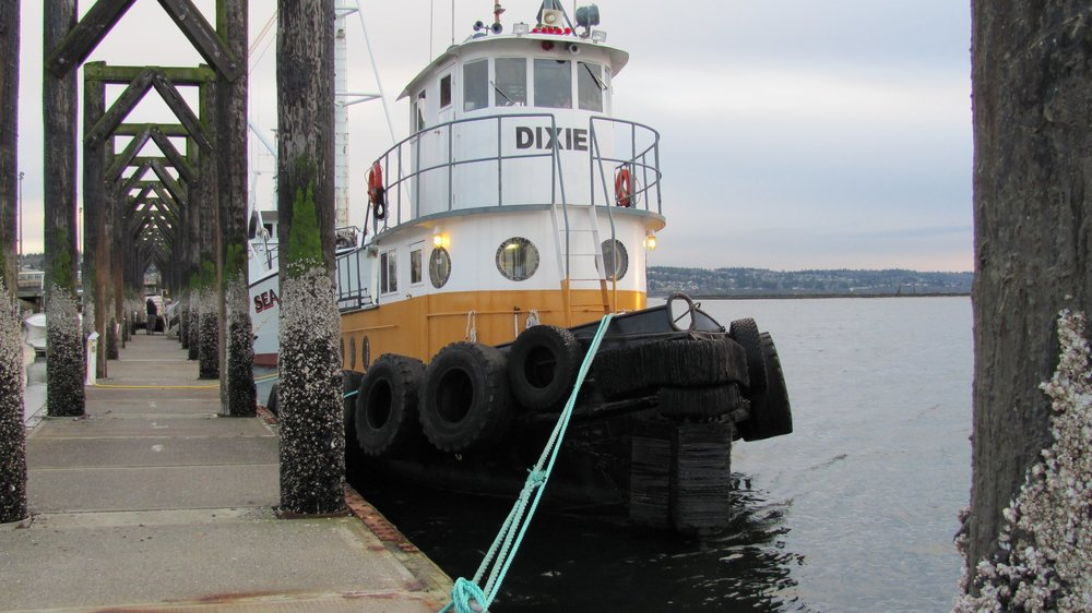 Dixie waiting for tow in Everett