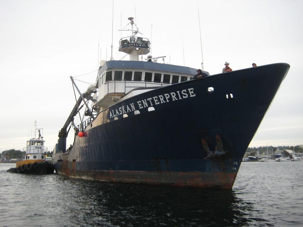 Dixie alongside Alaskan Enterprise