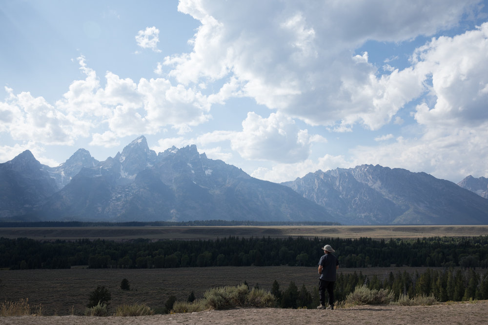 Looking upon the Grand Tetons