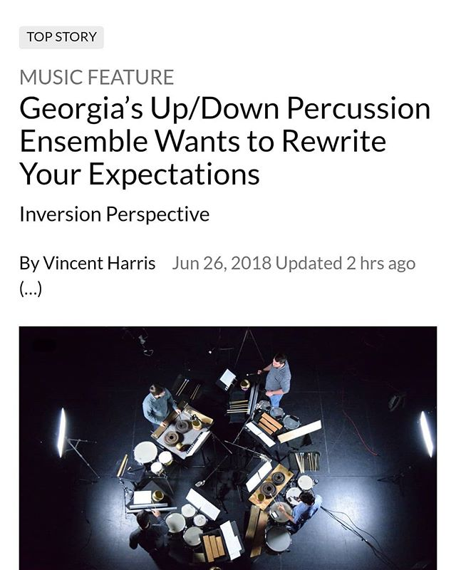 Thanks @freetimessc for the awesome feature!  Link to article in bio.  #percussion #percussionist #classicalmusic #contemporarymusic #drums #expectations #newspaper #musicjournalism