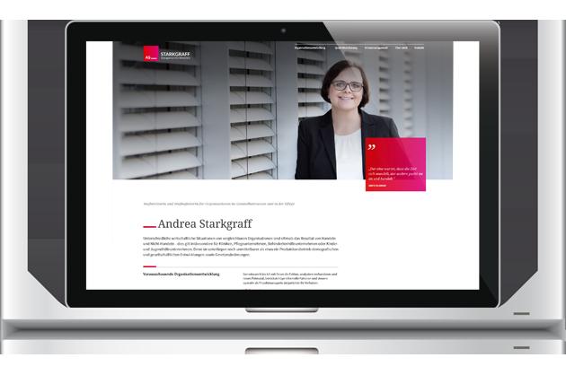 01/2017 Launch STARKGRAFF Management - Leitidee, Claim, Webtexte, Marketingplan by BONNINSKIWebdesign & Konzeption: Kathrin RolfsenWordpress-PM: Nicoletta ArpsFotos: Doreen Kühr