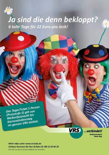 11/2011 Karneval – Print-Anzeige für VRS - Headline & Copy: Yvonne GrünenwaldGrafik & Konzeption: Sabine StengerFoto: Elke Esser