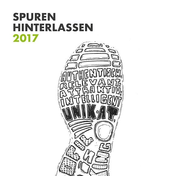01/2017 Neujahrskarte 2017 - Idee & Text: Yvonne GrünenwaldLayout: Kathrin RolfsenIllustration: 1zwo3