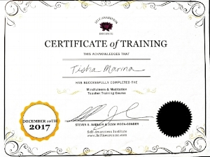 Certified Mindfulness & Meditation Teacher