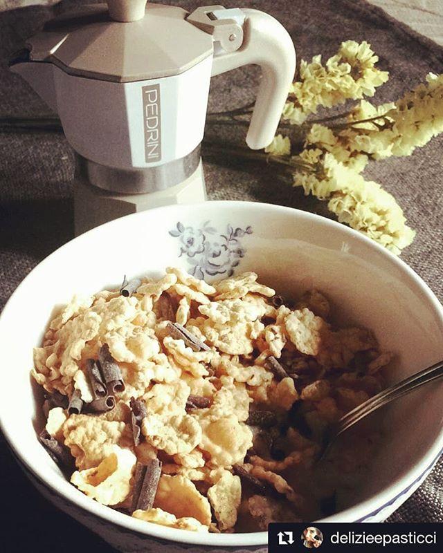 #Repost @delizieepasticci ・・・ #goodmorning #breakfast #foodlover #colazione #foodporn #italianfood #foodie #chocolate #coffeetime #sveglia #lovefood #potd #morning #coffeelovers #colazione #colazionesana #coffeegram #caffé #caffettiera #coffeepot #pedrini #buongiornocosi #buongiorno #buenosdias #bonjour #cafe #cafetera