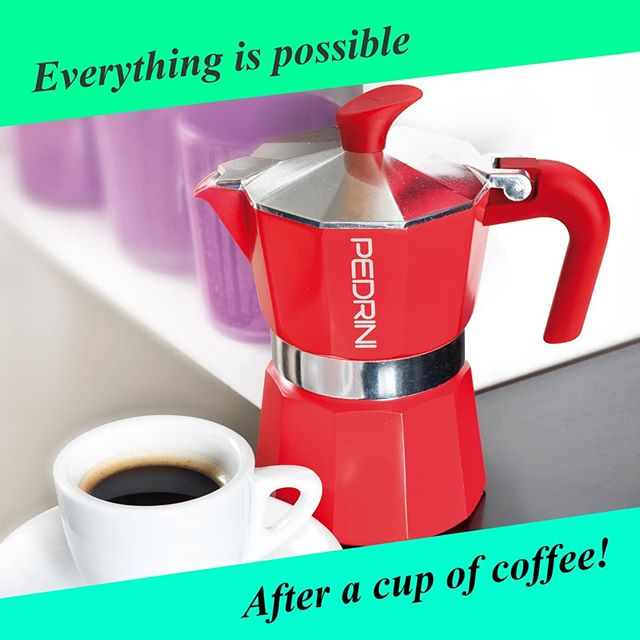 Everything is possible,after a cup of coffee of course!  #everythingispossible #happiness #endlesspossibilities  #mokapedrini #mokalovers #coffeeaddict #pedrini #pedrini1942 #caffettiera #caffé #positivevibes #positivethinking #happyday #tgif #venerdi #buongiornocosi #buongiono #goodmorning #haveacoffee #coffeebreak #morningcoffee #coffeegram