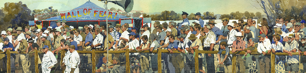 A Day At The Races: 24x99cm