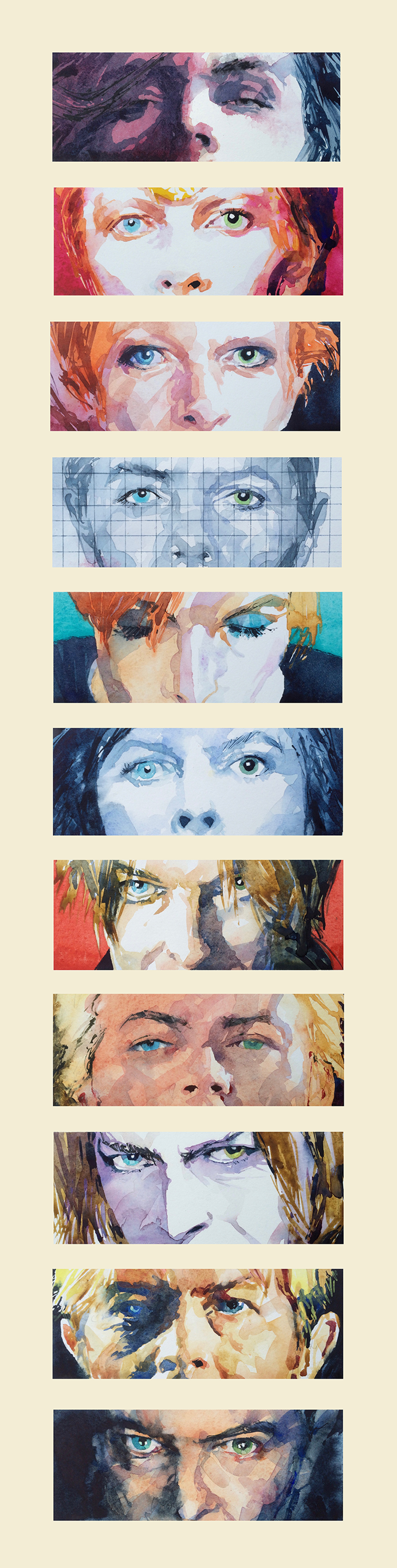 Changes Watercolour: 97x18cm