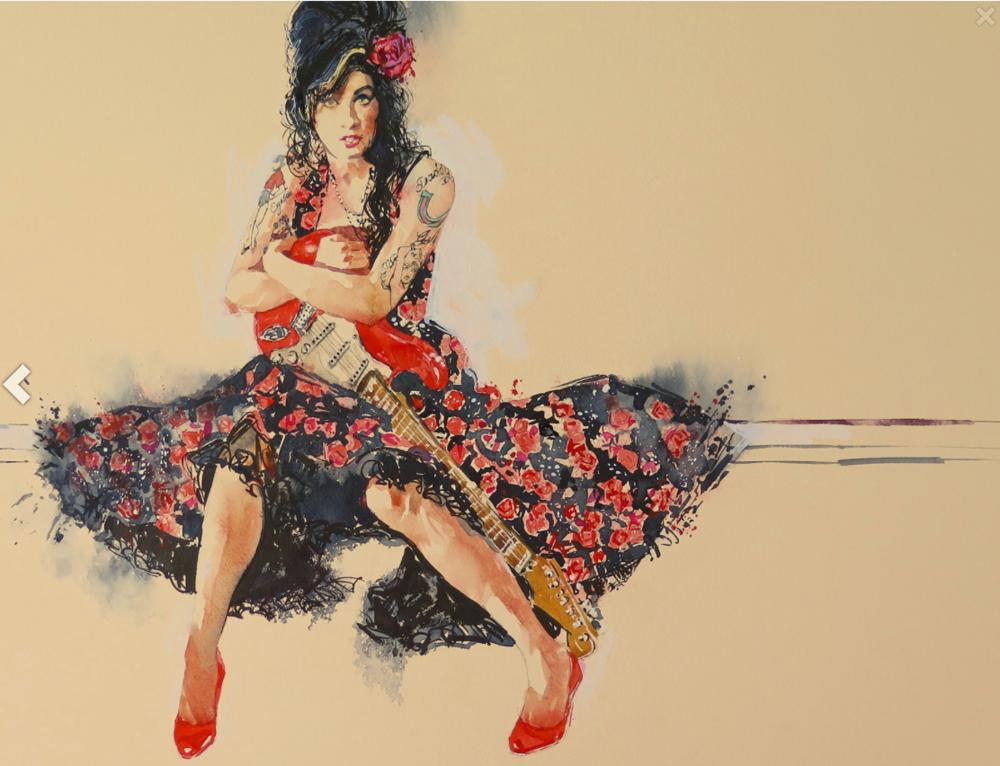 English Rose Study: 46x60cm