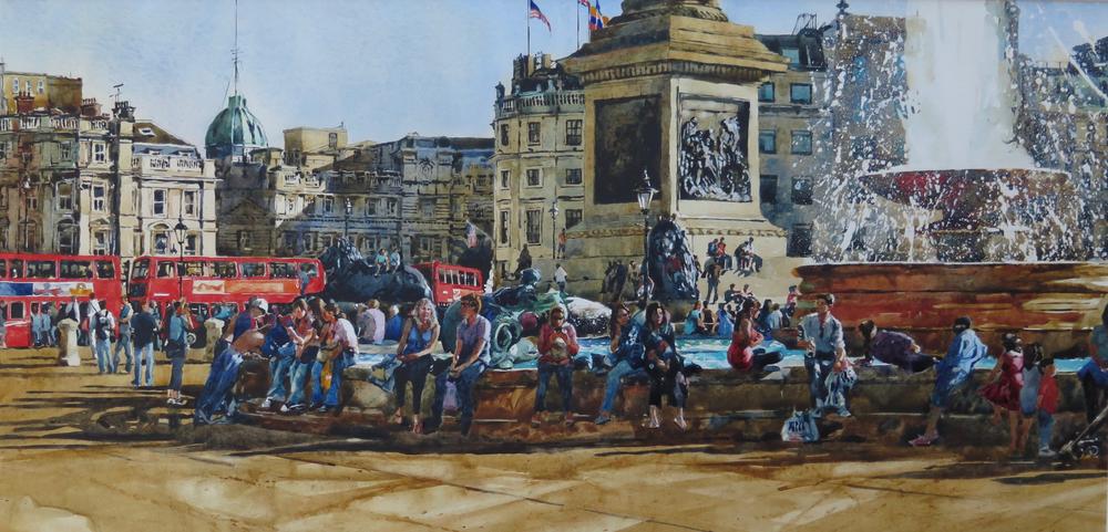Battle Of Trafalgar: 34x70cm