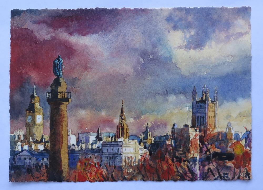 London Skyline: 15x20cm