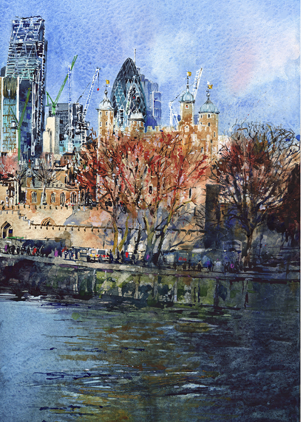Towers Of London: 29x40cm