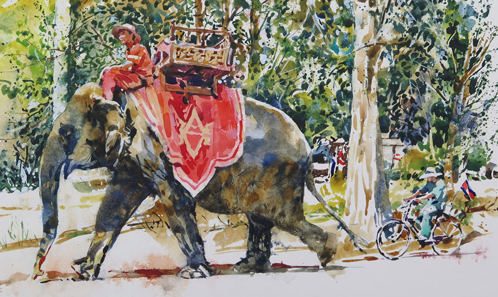 The Road To Angkor Wat: 21x30cm
