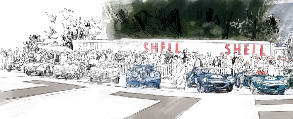 Ecurie Ecosse Line up, Sketch 1