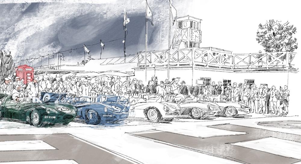 Ecurie Ecosse Line up, Sketch 2