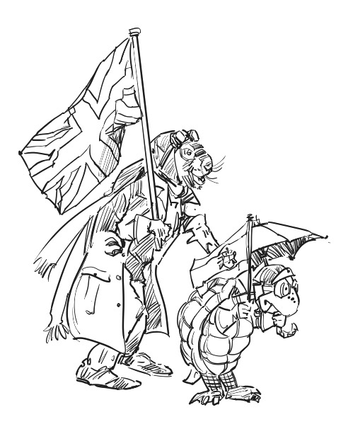 Tortoise & Hare, Sketch