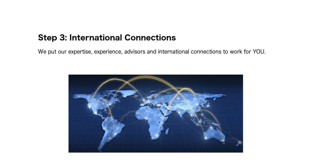 Step 3: International Connections