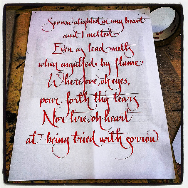 Calligraphy by Nathan Collis