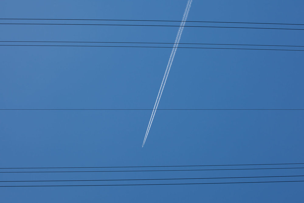 Minimal Skies II - Plane Power Cables.