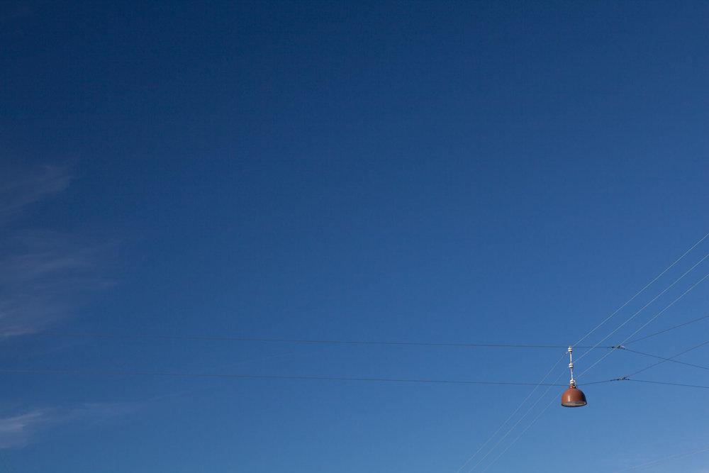 Minimal Skies V - Suspended Street Lamp