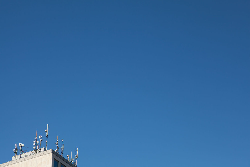 Minimal Skies VI - Microwave Masts