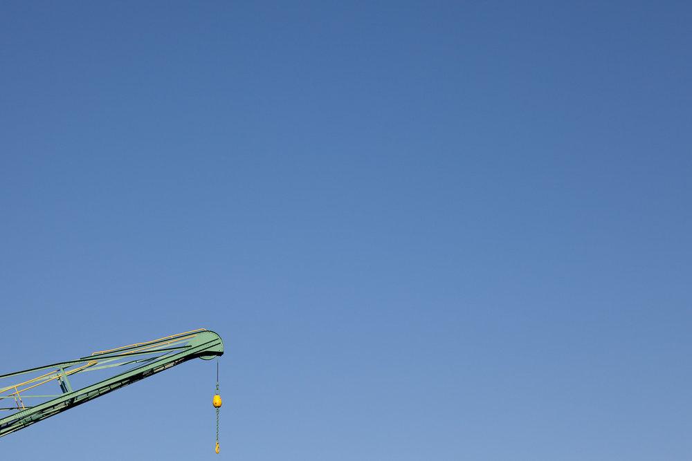 Minimal Skies XXII - Green Crane