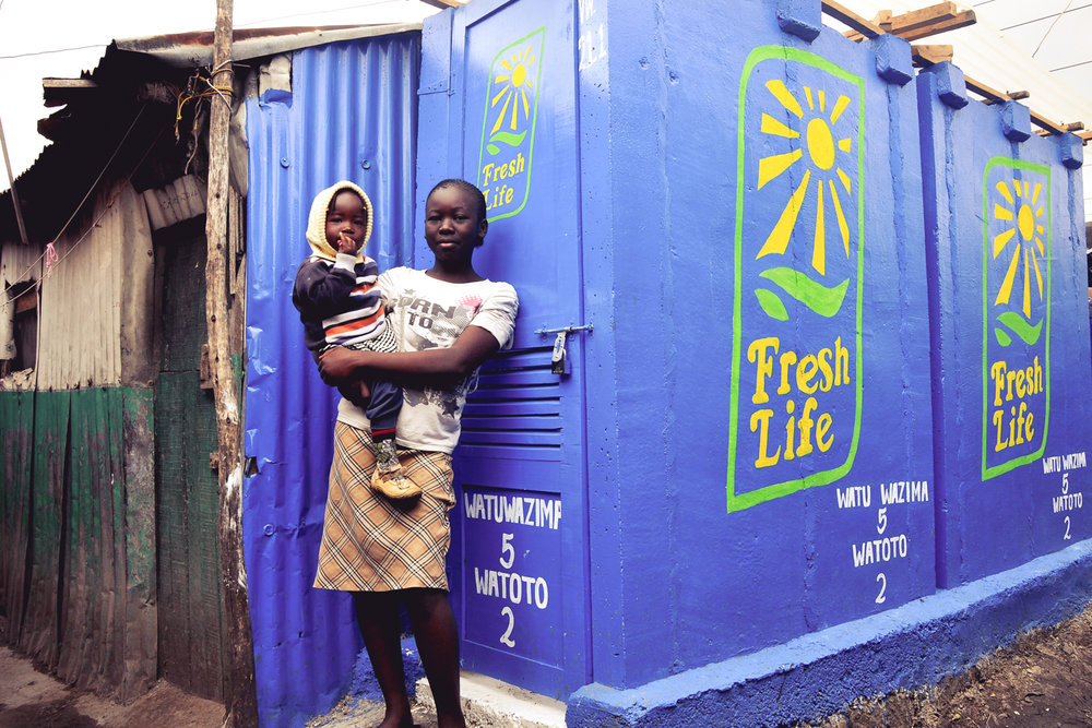 Sanergy builds healthy, prosperous communities by making hygienic sanitation affordable and accessible throughout Africa's informal settlements. CREDIT: Sanergy