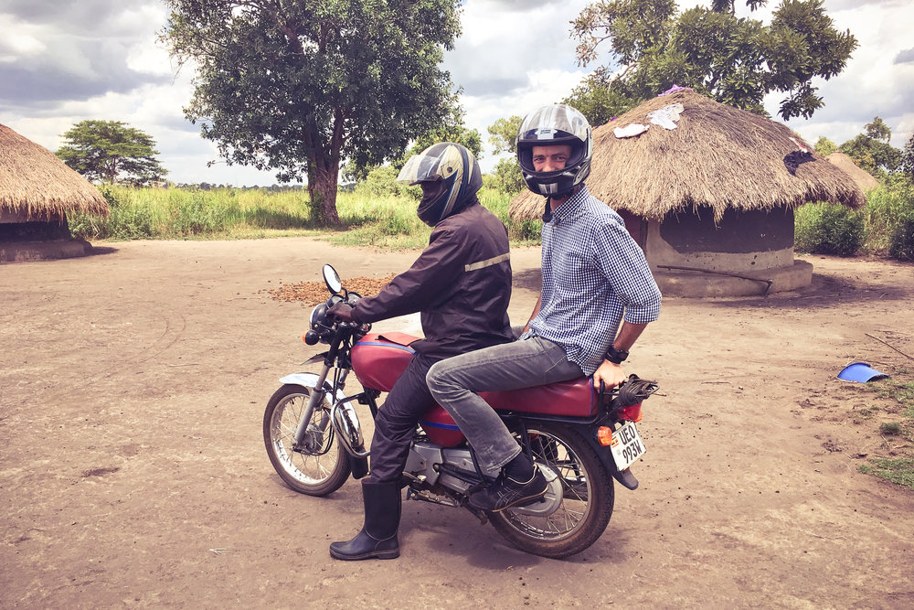 A favorite moment from 2018: out in the field in northern Uganda conducting customer interviews with smallholder farmers and Bicycles Against Poverty.