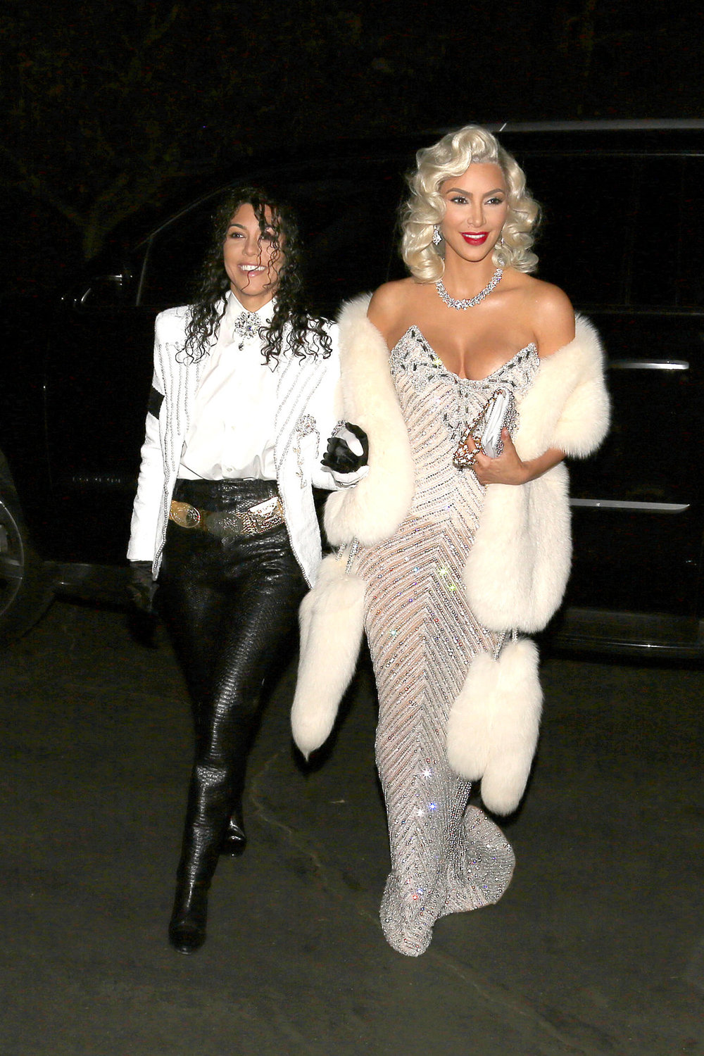 Kardashian Double - We're cheating with a couples costume, but who wasn't amazed by this Madonna and MJ throwback from Kim and Kourtney?