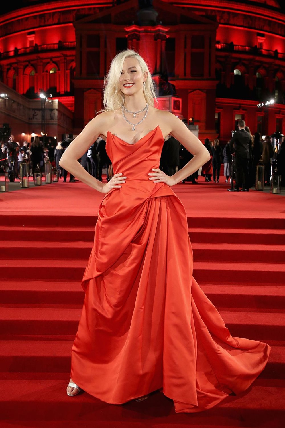Kloss on Over - The Supermodel Karlie Kloss wowed with her red Vivienne Westwood couture.