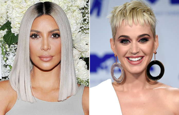 Platinum Blonde - It's not easy to maintain platinum blonde hair, but that didn't stop many celebrities like Kim Kardashian West and Katy Perry.