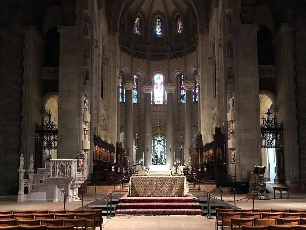 Cathedral of St. John the Divine, New York, where Very Rev. Tracey was ordained.