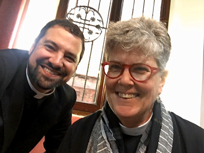 The Rev. Austin Rios, Rector of St. Paul's Within the Walls in Rome, Italy