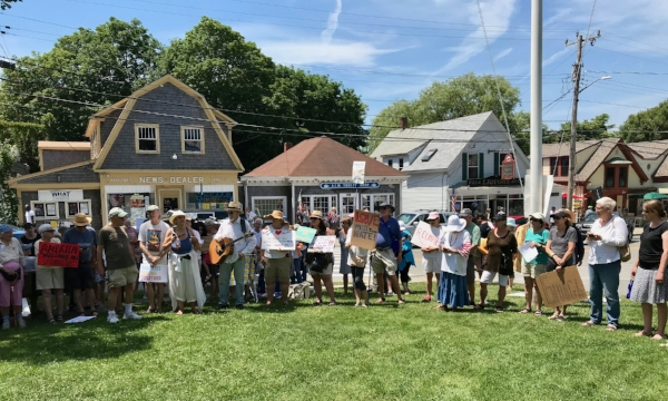 Families Belong Together Rally in Wellfleet, MA