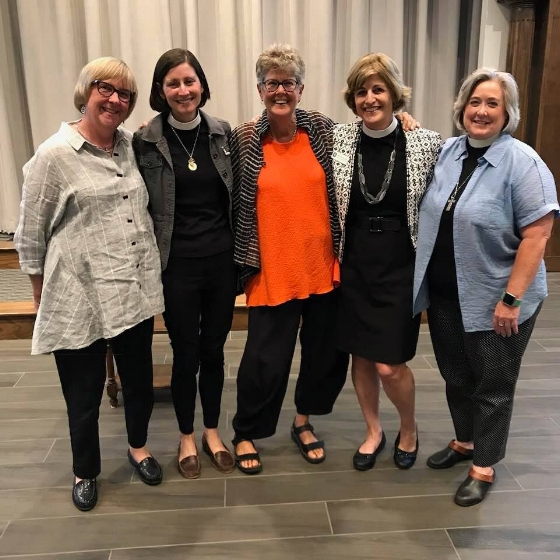 Tracey and Emily join clergy - Danielle Thompson, Mary Béa Sullivan and Jennifer Riddle - in Birmingham, Alabama, on Sept. 18.